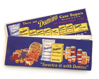 Vintage Domino Sugar Canning Jam Jelly Preserves Label Booklets