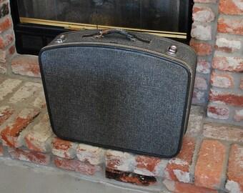 Vintage Hartmann Caravan Tweed Suitcase Luggage