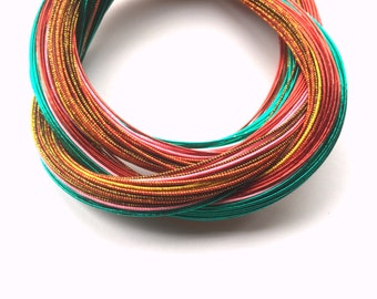 Mizuhiki Japanese Decorative Paper Strings Cords Special Mix Pink Green Red Brown Gold 50+ Cords