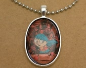 Hildy recycled comic book pendant