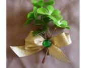 St Patricks Day Irish clover Shamrock women's fashion accessory pin brooch corsage boutonnière Celtc boho stocking stuffer