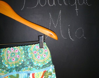 Will fit Size S/M - Ready to MAIL -  A-line Skirt - Amy Butler - by Boutique Mia