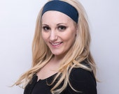 NAVY BLUE Headband for Women, Deepest Darkest Blue Ever