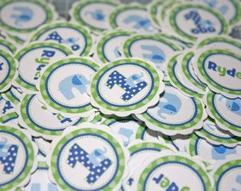 BLUE ELEPHANT Table Confetti / blue elephant Confetti / blue elephant Table Minis / elephant Confetti / elelphant party circles