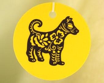 Chinese Zodiac, Dog, Car Air Freshener