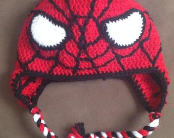 Spiderman Crochet Hat Custom