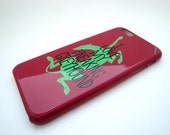 SALE - Greyhound Cell Case - iPhone - Samsung - Freaking Happy Collection - Raspberry - Hard Case Cell Phone Cover - Ready To Ship