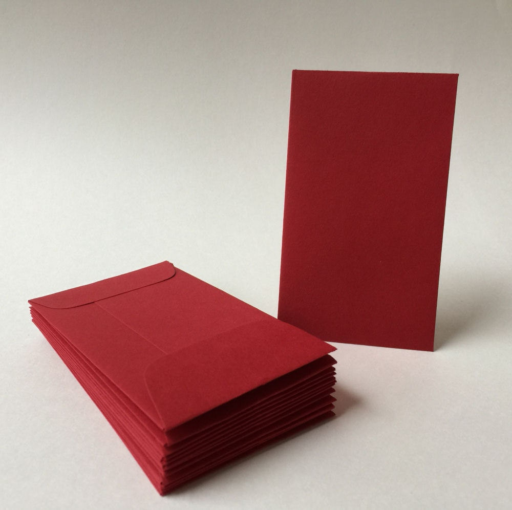 100 Red Coin Envelopes Mini Red Envelope with Flap Escort