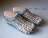 Pattern .. Irish Cable Knit Slippers.....PATTERN ONLY