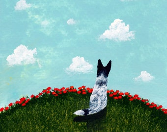 Australian Cattle Dog LARGE folk art print by Todd Young Poppy Hill