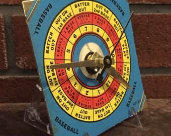 1950's Milton Bradley Senior Combination Board Game Spinner Clock