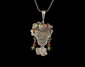 Day of the Dead Flower Frida Kahlo Necklace