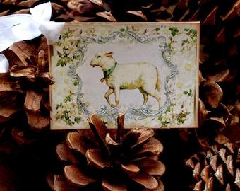 Shabby White Lamb Gift Tags