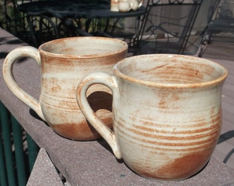 Mugs in Creamy Colorado Glaze  - Set of Two (more available)