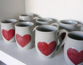 Heart Mugs and Button Tumblers