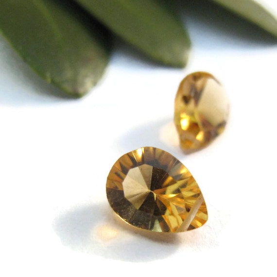 Natural Citrine Beads, Set of 2 (Two) 8x6mm AAA Matching Citrine Gemstones for Jewelry, November Birthstone (Luxe-Ci4)