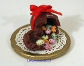 RESERVED *Doll house miniature 12th scale cracked Easter egg & candy eggs* RESERVED for Minteriors