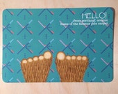PDX carpet Bigfoot selfie postcard set