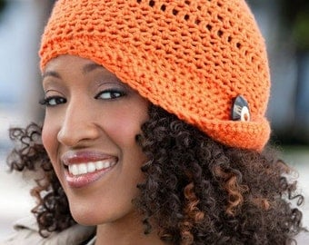 Casual Flapper Hat - Special Order - choose a solid color or solid and mix