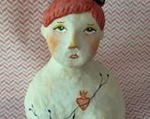 Scarlett. Original Paperclay Art Doll