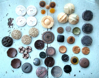 Vintage Buttons - Jewelry Supply