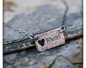 Loved sterling silver necklace with cutout heart