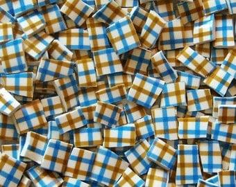 Mosaic Tiles-Tattersall-Blue-Brown-- 90 Tiles