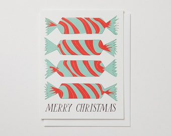Merry Christmas Christmas Crackers Note Card