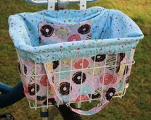 Donuts Galore Bike Basket Liner and Purse in One