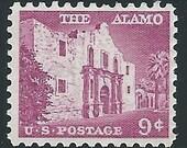 Vintage Unused US Postage Stamp .. 9c THE ALAMO issue of 1956.. Pack of 10