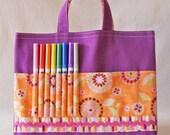 Crayon Tote Crayon Bag 20% off Sale READY To SHIP ARTOTE
