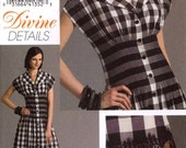 Chic Flared Dress Divine Details sewing pattern Vogue V8353 Day dress Bust 30 to 32