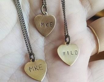 Mini heart Necklace - City, Wild, or Weird