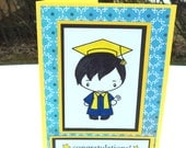 Graduation Card, Congratulations Card, Male Graduate Card, High School Graduate, College Graduation Card