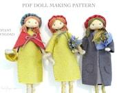 Verity Hope felt doll pattern / bendy doll / tutorial / pdf / instant download / by Verity Hope.