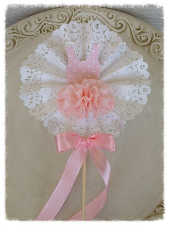 items similar to shabby chic decorative wand ballet party cake topper for birthday party on etsy. Black Bedroom Furniture Sets. Home Design Ideas