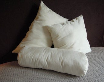 Pillow Inserts, Toss Cushions, Organic Cotton Covers, Poly-fill, Pillow Forms