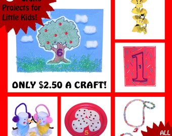 CRAFT KITS for KIDS - 6 Craft Kits for Little Kids - All Supplies Included! - Learn Numbers
