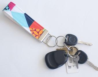 Key Fob in Technicolor Cubix