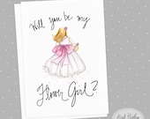 Flower Girl-PDF Instant Download-Will you be my flower girl? card