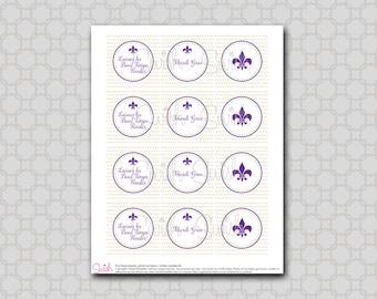 Mardi Gras Cupcake Toppers - Party Circles
