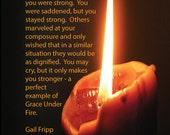 Original Poem Story About Grace Under Fire 4x6 Picture Unframed