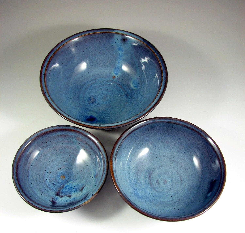 verschachtelung von keramik sch ssel set keramik von patspottery. Black Bedroom Furniture Sets. Home Design Ideas