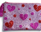 Heart Breaker Glitter Tassel Clutch Purse Handmade by Cutie Dynamite