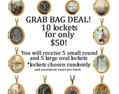 GRAB BAG DEAL - 10 lockets A La Carte for A Ridiculous Price - Slightly Irregular and Studio Seconds