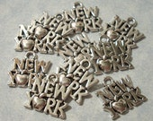 25 New York Charms 14 x 14mm  State Charms Big Apple Charms