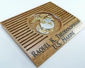 USMC COIN HOLDER Display Rack Custom Personalized Marine Military Challenge Coins United States Retirement Promotion Gift