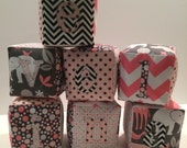 Custom Monogram Cloth Play Blocks for 'smacolino'