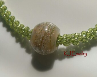 Think Spring Kumihimo Beaded Necklace