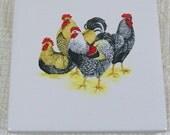 Trivet | Ceramic Spoon Rest | Ceramic Trivet | Ceramic Coaster | Kitchen Trivet | Drink Coaster | Cup Coaster | Chicken Decor | Farm Decor|